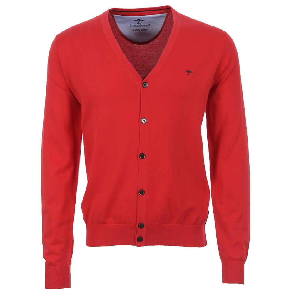 Fynch Hatton Button Tomato Cardigan   Masdings 94d09b4b265d