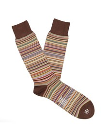 Paul Smith Mens Multicoloured New Classic Multi Stripe Sock
