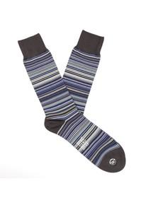 Paul Smith Jeans Mens Blue New Classic Blue Multi Stripe Sock