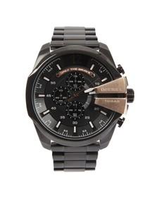 Diesel Mens Black Diesel DZ4309 Mega Chief Metal Watch