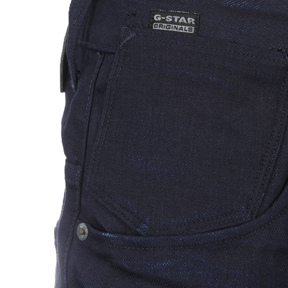 G-Star Mens Blue A-Crotch 3D Raw Mazarine Denim Tapered Jean main image