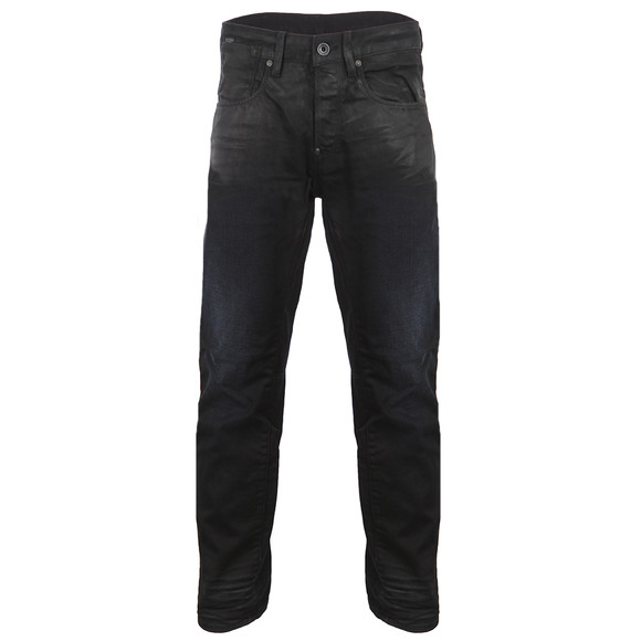 G-Star Mens Blue A-Crotch Dark Aged Effer Denim Tapered Jean main image
