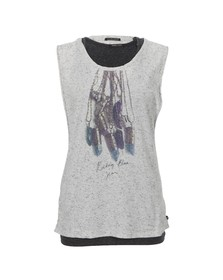Maison Scotch Womens Grey Festival Rock Tank And Inner