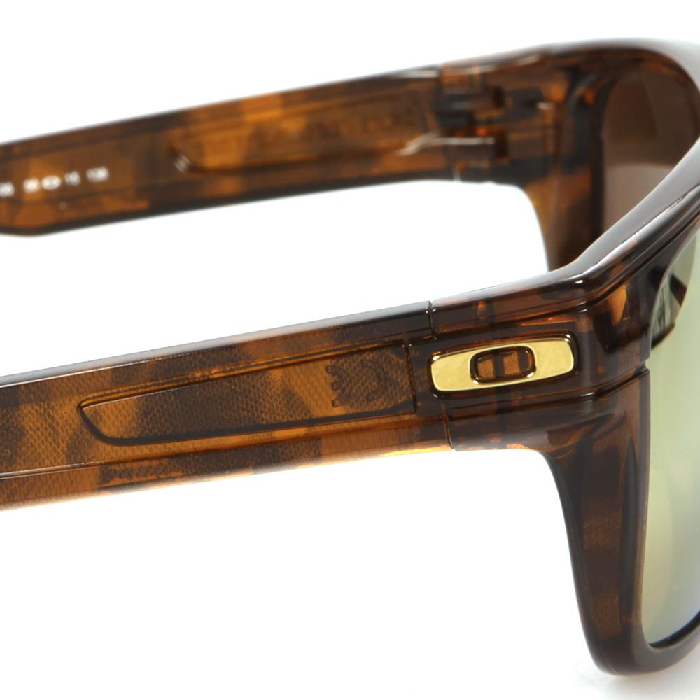 b568e6d3e0 Oakley Mens Brown Oakley Breadbox Tortoise 24K Iridium Polarized Sunglasses  main image. Loading zoom