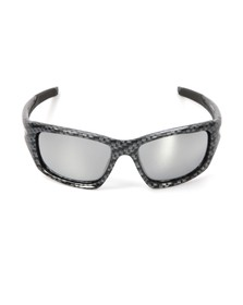 Oakley Mens Grey Oakley Valve Carbon Fibre/Chrome Iridium Sunglasses