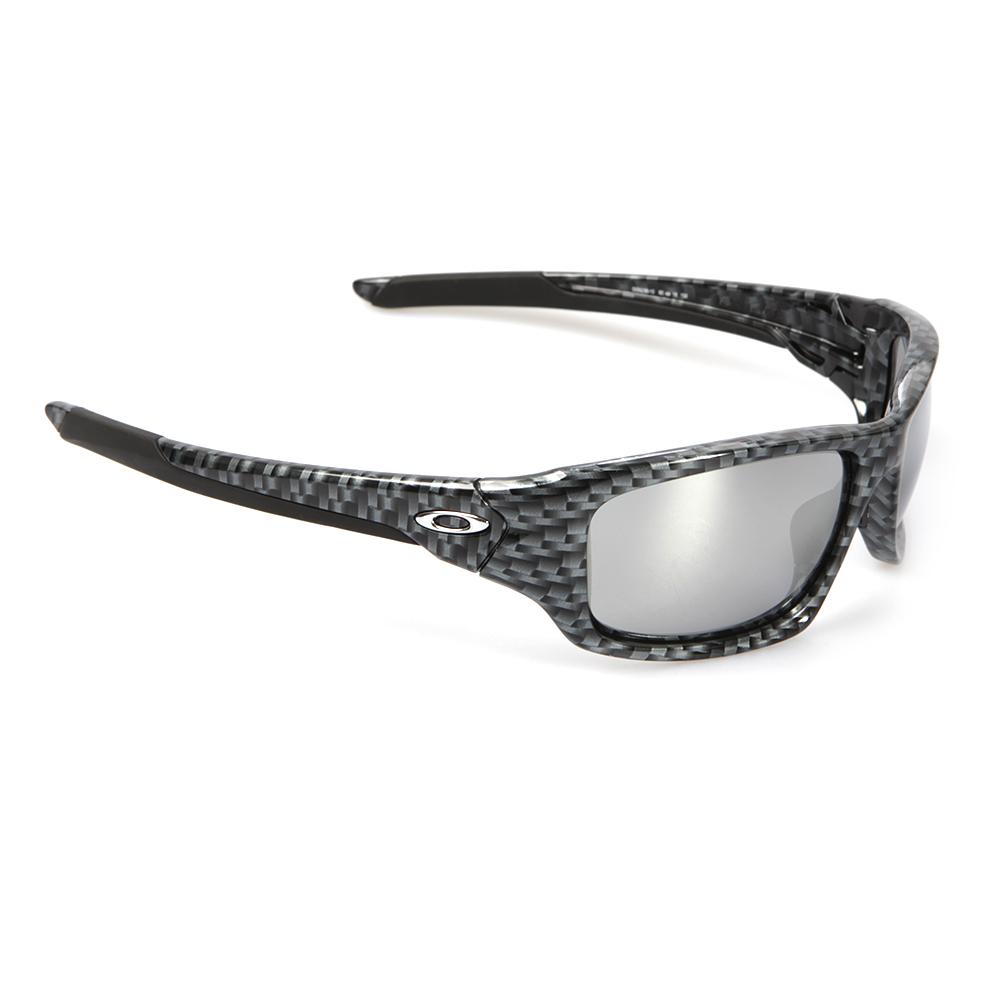 a5b1b3f1ce Oakley Mens Grey Oakley Valve Carbon Fibre Chrome Iridium Sunglasses main  image. Loading zoom