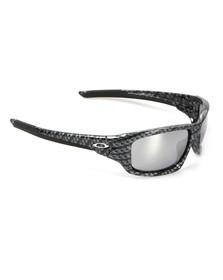 Oakley Mens Grey Oakley Valve Carbon Fibre/Chrome Iridium Sunglasses