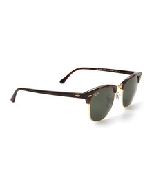 Ray Ban Mens Brown ORB3016 Clubmaster Sunglasses