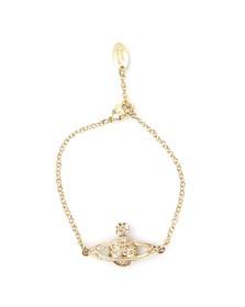Vivienne Westwood Womens Gold Mini Bas Relief Chain Bracelet