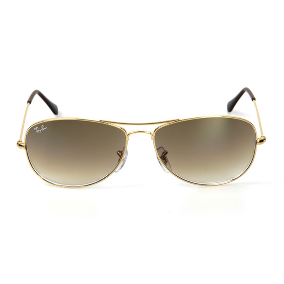 Ray-Ban Mens Gold ORB3362 Cockpit Sunglasses
