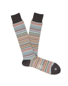 PS by Paul Smith Mens Grey New Classic Multi Stripe Sock