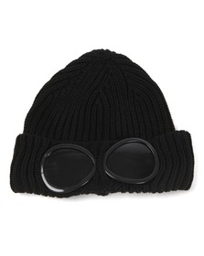 C.P. Company Mens Black Goggle Hat