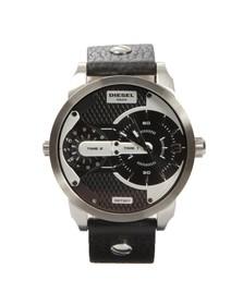 Diesel Mens Black DZ7307 Mini Daddy Leather Watch