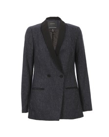 Maison Scotch Womens Black Longer Length Tuxedo Blazer