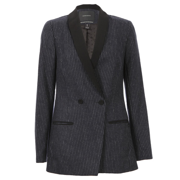 Maison Scotch Womens Black Longer Length Tuxedo Blazer main image