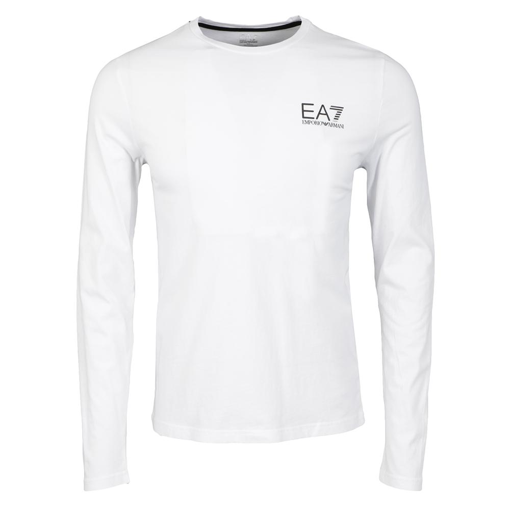 4bc9d52c EA7 Emporio Armani Mens White Train Core ID Long Sleeve T-Shirt