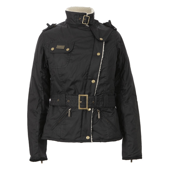 Barbour International Womens Black Matlock Wax Jacket main image