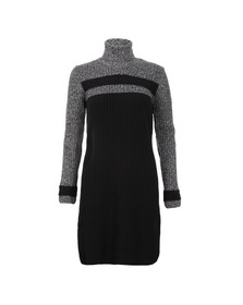 Barbour International Womens Black Rebecca Knitted Jumper Dress