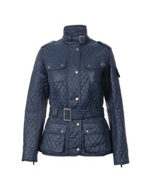 Barbour International Womens Blue Grindleford Quilt