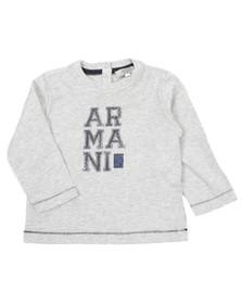 Armani Junior  Boys Grey ZDH11 Long Sleeve T-Shirt