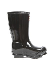 Hunter Girls Black Kids Original Gloss Wellington