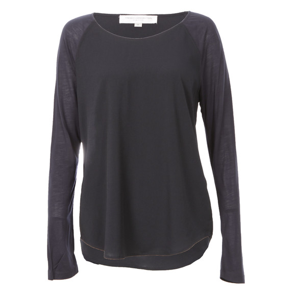 French Connection Womens Blue Polly Plains Long Sleeve T-Shirt main image