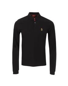 Luke Mens Black New Keytes Long Sleeve Polo