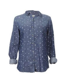 Maison Scotch Womens Blue Preppy Shirt