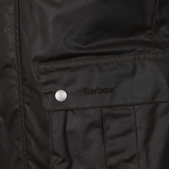Barbour International Mens Brown Duke Wax Jacket main image