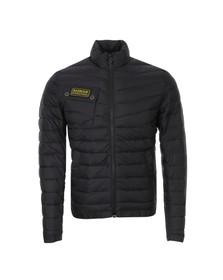 Barbour International Mens Black Chain Baffle Quilt Jacket