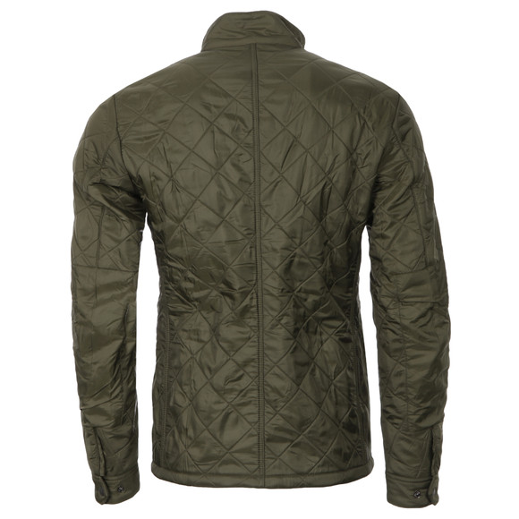 Barbour International Mens Green Ariel Polarquilt Jacket main image