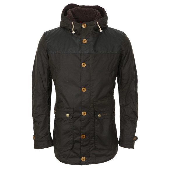 Barbour Heritage Mens Green Game Waxed Parka main image