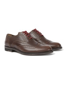 J Shoes Womens Brown Charlie Brogue Shoes
