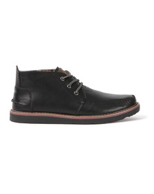 Toms Mens Black Leather Chukka Boot