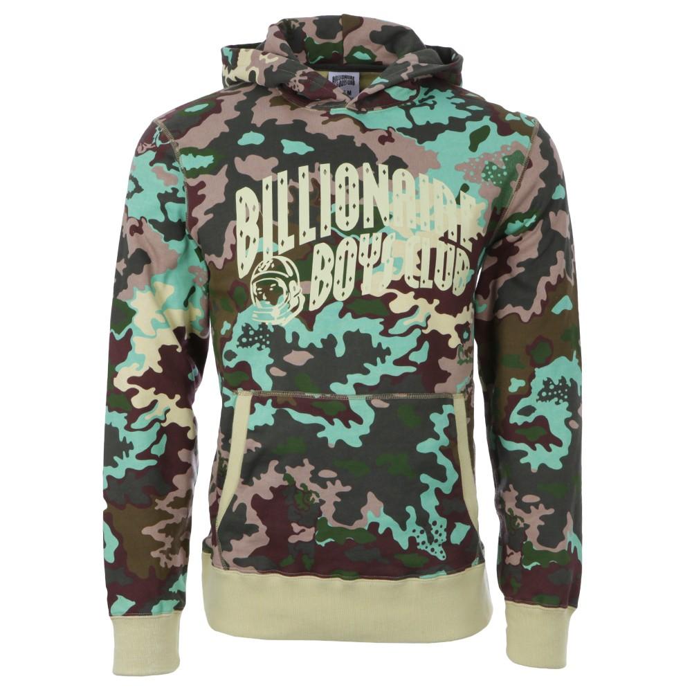 85eaac23631e1 Billionaire Boys Club Mens Green Nothing Camo Overhead Hoody main image.  Loading zoom
