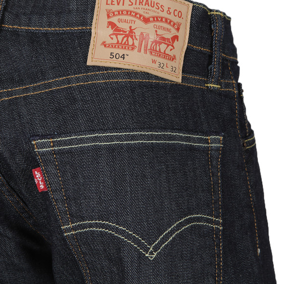 Levi's Mens Blue 504 Regular Straight Fit Jeans main image