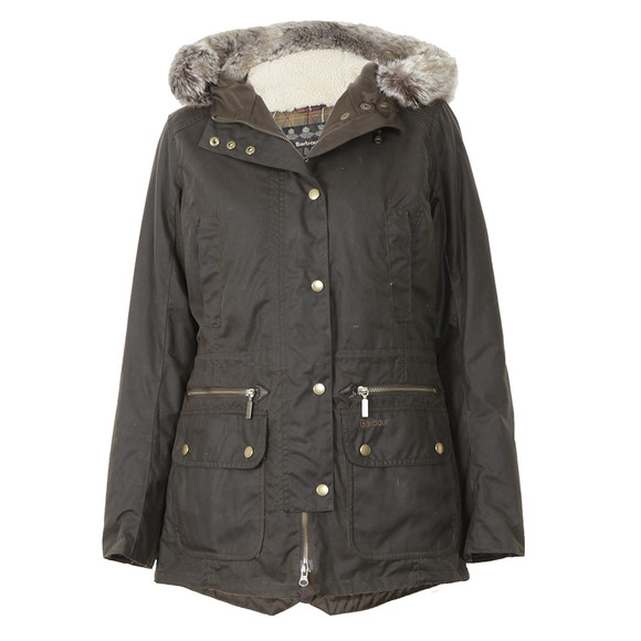 Barbour Lifestyle Womens Green Barbour Olive Kelsall Winter Parka