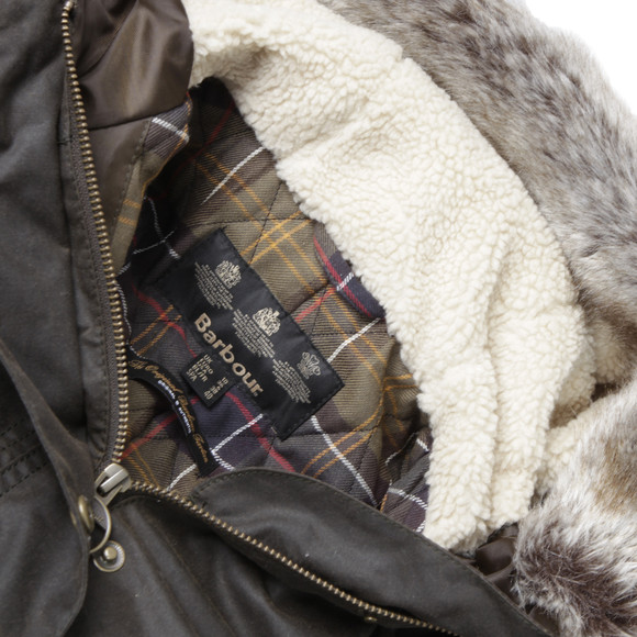 Barbour Lifestyle Womens Green Kelsall Winter Parka main image