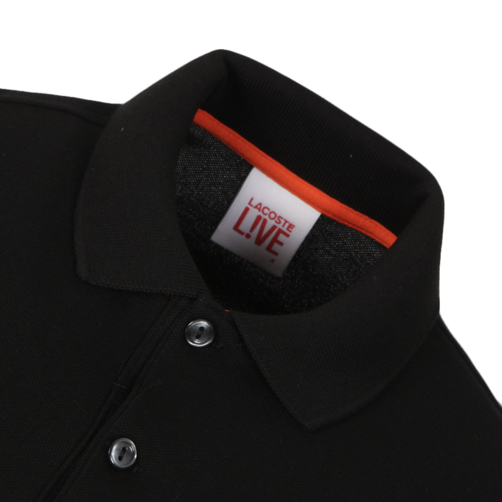 b6d53497d6 Lacoste Live Lacoste L!ve PH8602 Noir Polo | Oxygen Clothing