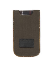 Barbour Lifestyle Unisex Green 120YRS Waxed Cotton IPhone 5 Pouch