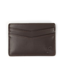 Lyle and Scott Mens Brown Leather Card Holder