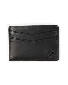 Lyle and Scott Mens Black Leather Card Holder