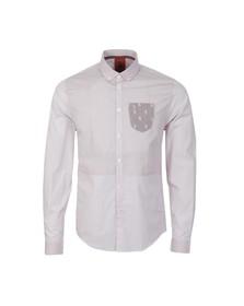 Luke Mens Red Baker Small Check Shirt