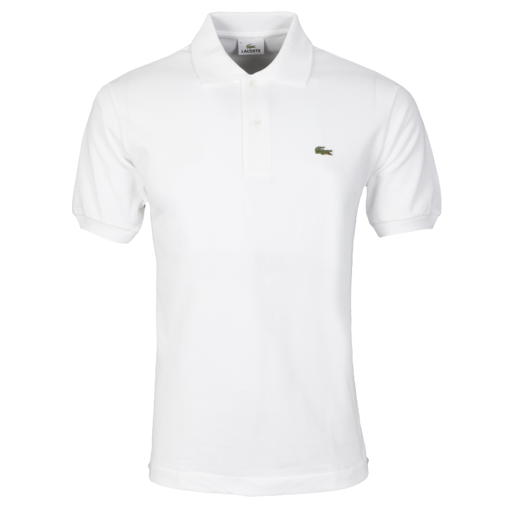 Polo Plain Mens Shirt White L1212 D2YHWE9I