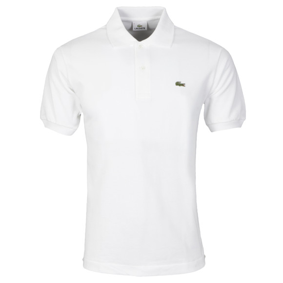 Lacoste Mens White L1212 Plain Polo Shirt main image