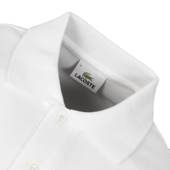 Lacoste Mens White L1212 Plain Polo Shirt