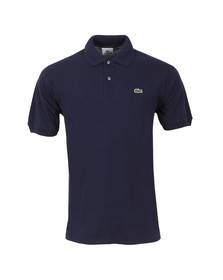Lacoste Mens Blue L1212 Marine Plain Polo Shirt