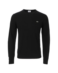Lacoste Mens Black New Wool AH2995 Crew Neck Jumper