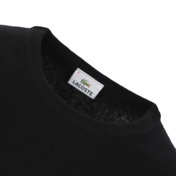 Lacoste Mens Black New Wool AH2995 Crew Neck Jumper main image