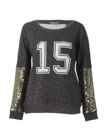 Maison Scotch Womens Black Festive Sweat With College Print